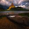 Good Morning For A Canoe Trip - Swiftcurrent Lake, Many Glacier, Glacier National Park, Montana