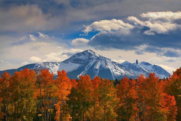 Foreground Guards - Capitol Peak, Aspen, Colorado