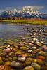 Stepping Stones To The Grand Tetons - Near Schwabacher Landing, Grand Teton National Park, Wyoming