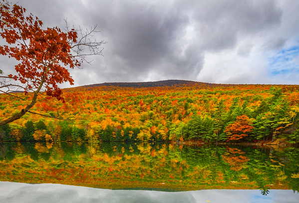Looking At The Bottom Of The Lake With Colors Hills In Background_Horizontal - Vermont