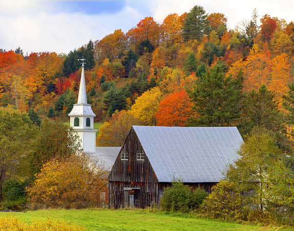 Classic History Of A Small New England Town  - Vermont
