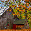 Arlington Local Buildings With Fall Foliage - Vermont