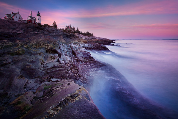 Shoreline Exposure   Pemaquid Point Lighthouse, Maine