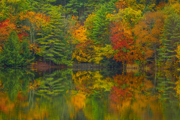 Visual Delights Mirrored Across Lake - Vermont