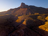 Looking At Guadalupe Peak From The Air - Guadalupe Mountains National Park and Chihuahuan Desert, West Texas