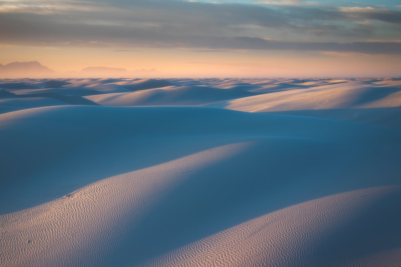 Dreamy Moods Of Light Over White Sands - White Sands National Monument, New Mexico
