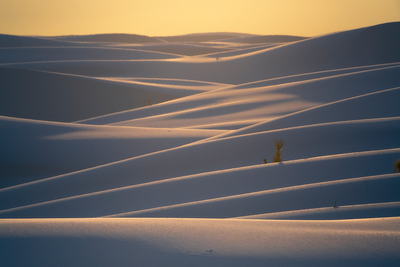 All Kinds Of Intersecting Layers Of Light And Shadow - White Sands National Monument, New Mexico