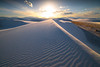 Walking The Rim Of Golden Light - White Sands National Monument, New Mexico