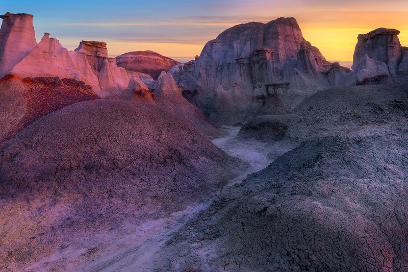 River Runs Through It -  Bisti/De-Na-Zin Wilderness, New Mexico