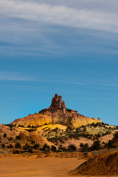 Out In The Distance Church Rock Stands - Red Rock State Park, Gallup, New Mexico
