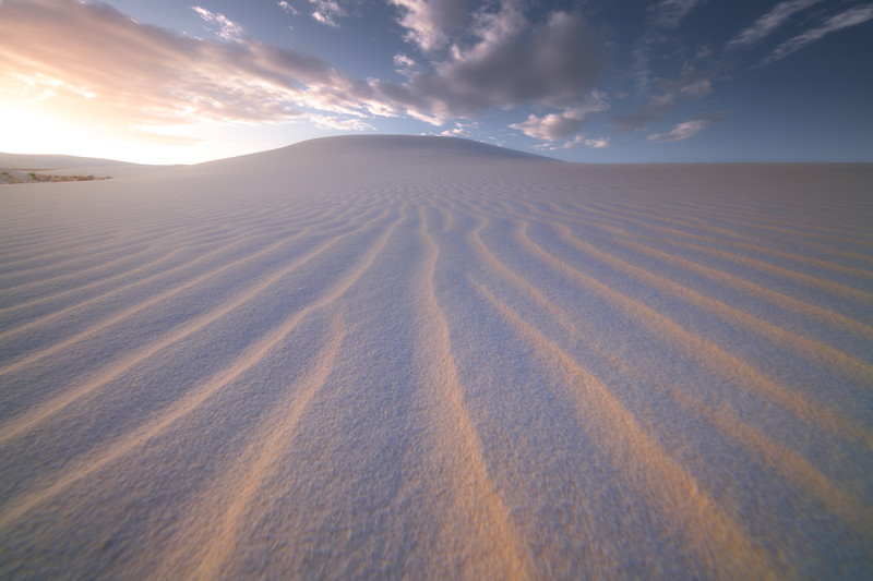 Dreamy Moments Of Delicate Warmth And Ripples - White Sands National Monument, New Mexico