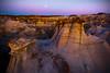 Moonlight Hoodoos -  Bisti/De-Na-Zin Wilderness, New Mexico