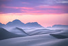 Twilight Blues Over The White Sand Dunes - White Sands National Monument, New Mexico