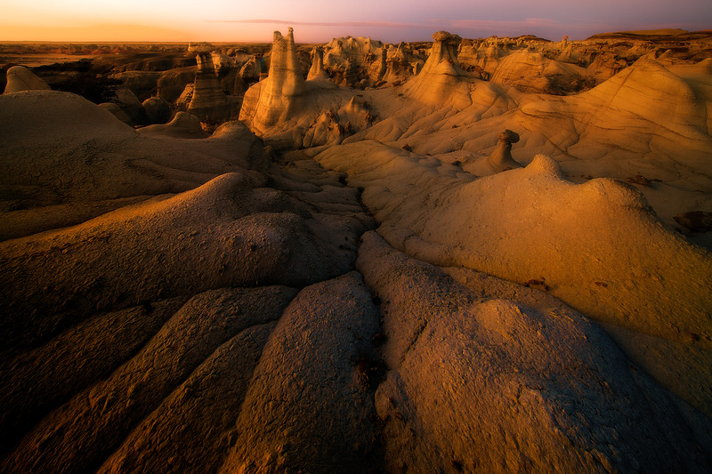 Cracks Leading Into The Middle Of The Earth -  Bisti/De-Na-Zin Wilderness, New Mexico