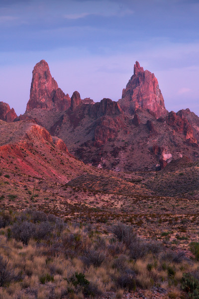 The Mule Ears During The Blue Hour - Big Bend National Park, Texas