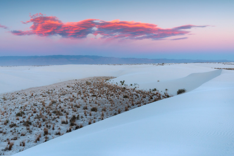 White Sands With Sunset Clouds Above - White Sands National Monument, New Mexico