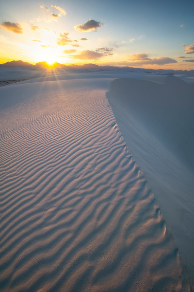 Glow Of Sunset To Come - White Sands National Monument, New Mexico