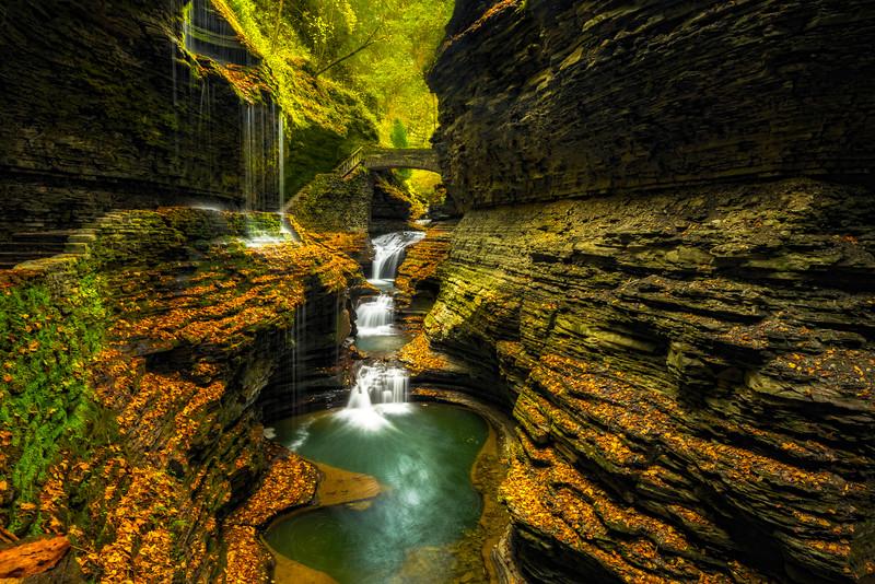 Watkins Glen Morning Light -  Watkins Glen State Park, Finger Lakes Region, Upstate New York, NY