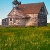 Afternoon Light On The Grenora Schoolhouse - Grenora, Little Missouri, North Dakota
