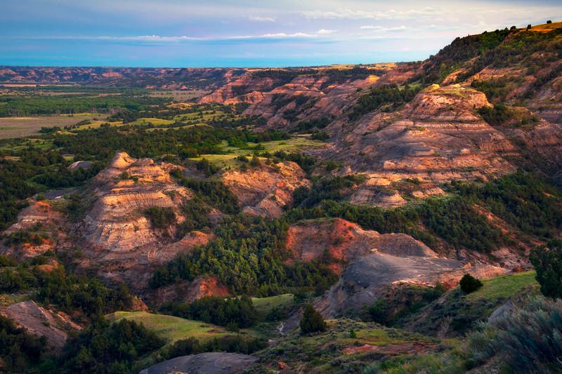 The Deep Vallleys Of Badlands - Theodore Roosevelt National Park, North Dakota