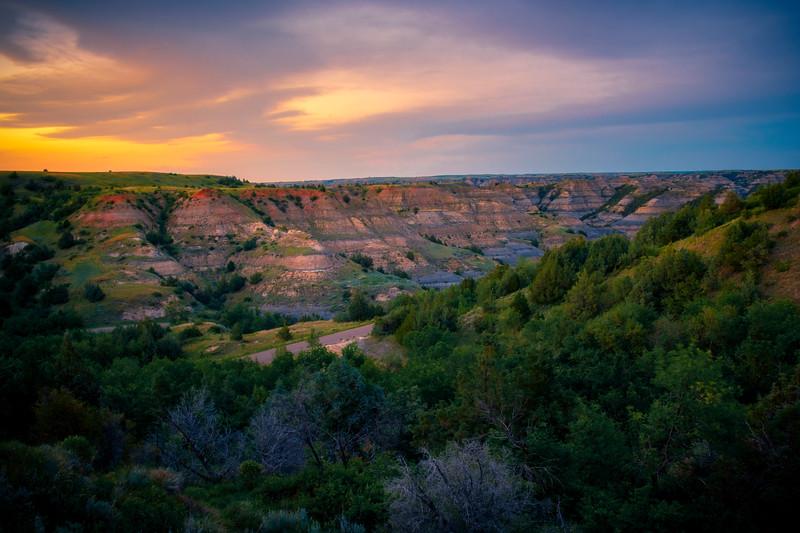 Warm Light Reflected Into The Badlands - Theodore Roosevelt National Park, North Dakota