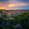 Warm Light Reflected Into The Badlands - Theodore Roosevelt National Park, North Dakota