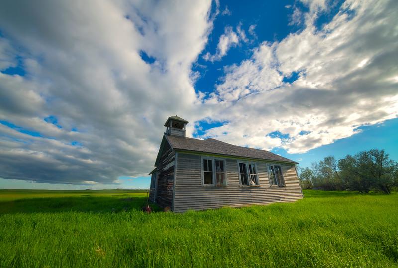 Underneath The Great White Clouds - Rhame, North Dakota