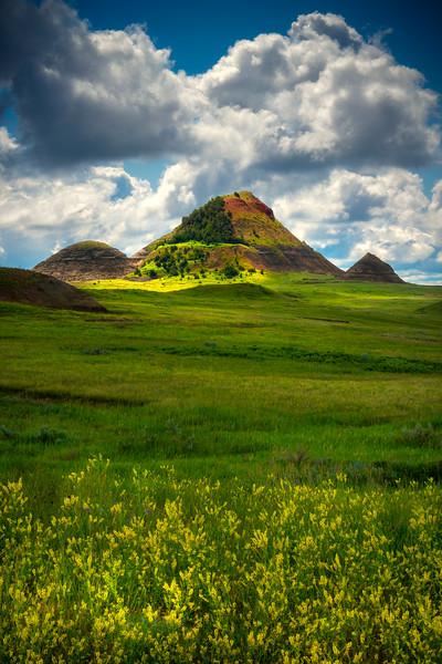 Pyramids Of Color - Sather Lake Recreation Area Little Missouri Grasslands, North Dakota