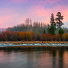 When Twilight Meets Autumn - Deschutes River, Bend, Oregon
