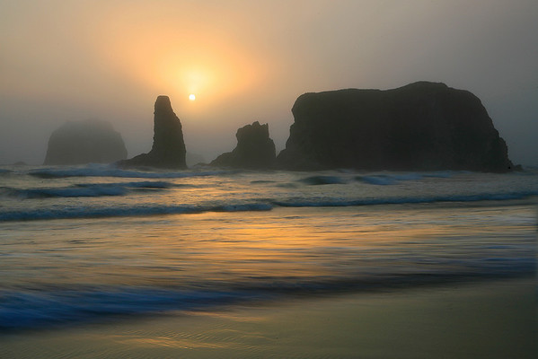 Breaking Through The Fog - Face Rock State Park, Bandon, Oregon Coast, Oregon