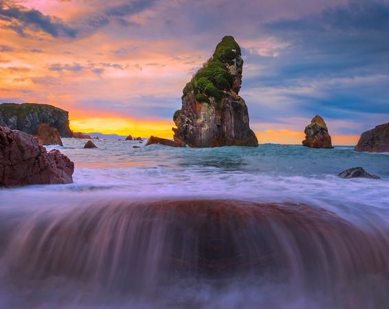 Splash Over At Harris Beach - Harris Beach, Southern Oregon Coast, Oregon