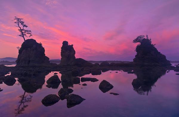 Pink Sunrise At Garibaldi Bay -  Garibaldi Bay, Oregon Coast, Oregon