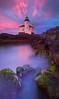 Magenta Morning At Coquille River Lighthouse - Bullards Beach State Park, Oregon Coast, Oregon