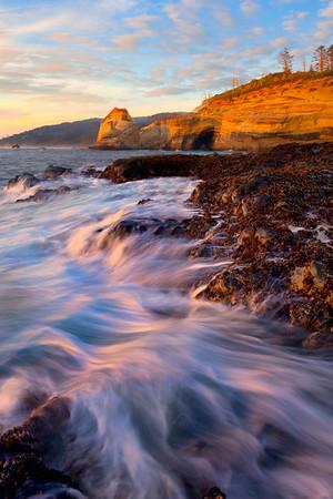 Looking Down The Oregon Coast - Cape Kiwanda, Oregon Coast, Oregon