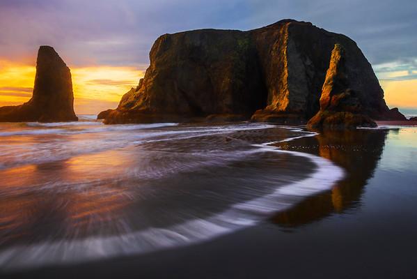 Bandon Beach Tide Sweep