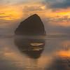 Glowing Reds Of Emptiness -  Cape Kiwanda, Pacific City,  Oregon Coast, Oregon