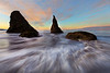 A Rush From All Directions - Bandon Beach, Southern Oregon Coast, Oregon