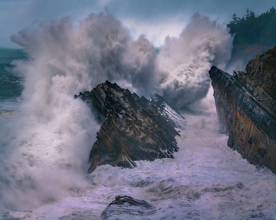 Shore Acres Crashing Waves - Shore Acres State Park, Coos Bay, Oregon Coast