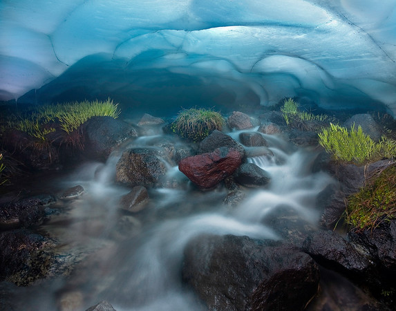 Ice Cave Blues - Three Sisters Wilderness