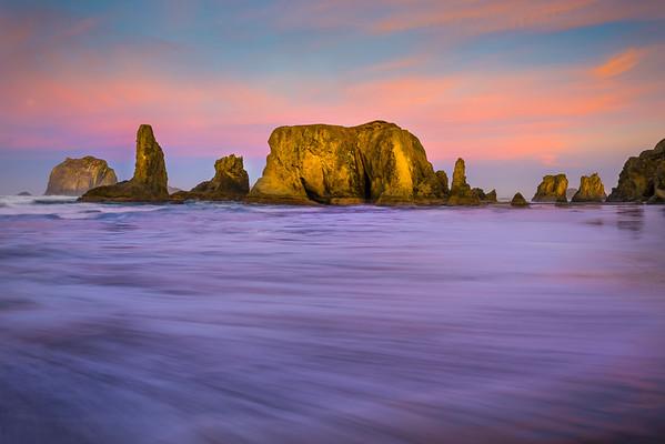 The Rush And Power Of The Ocean - Bandon Beach, Oregon Coast, Oregon