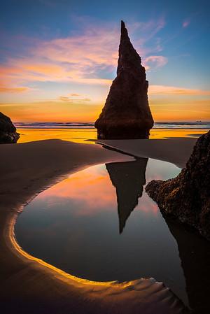 A Lonely Tidepool - - Bandon Beach, Oregon Coast, Oregon