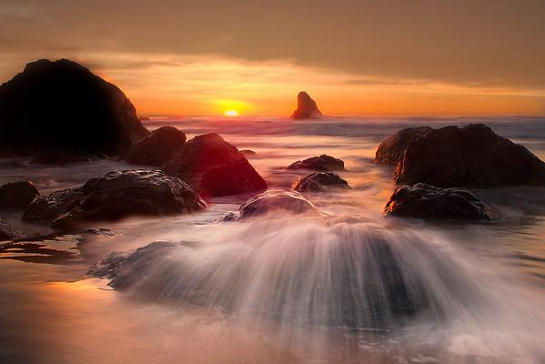 Spill Over - Indian Beach, Oregon Coast, Oregon
