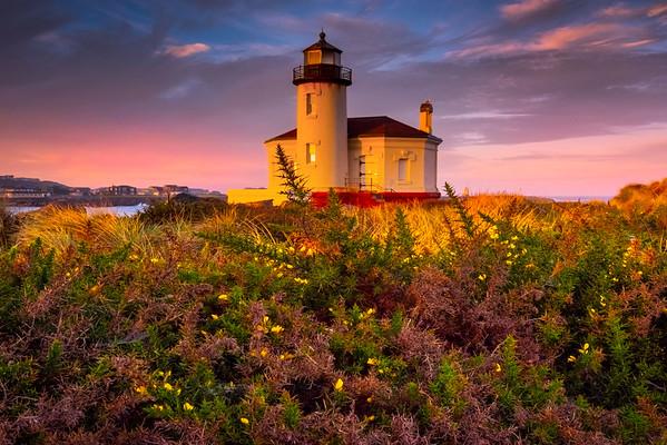 Morning Warmth - Coquille River Lighthouse, Bullards Beach State Park, Oregon Coast, Oregon