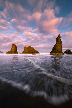 As The Rush Comes - Bandon Beach, Oregon Coast