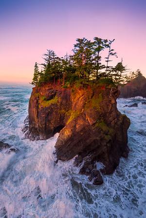 Samuel Boardman Haystack Pink - Samuel Boardman State Park, Southern Oregon Coast