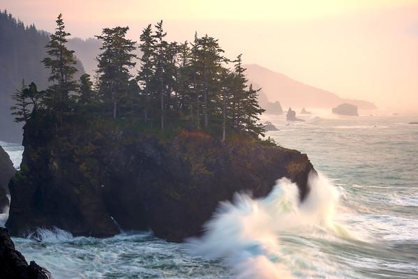 Crashing Big Waves On Haystack - Samuel Boardman State Park, Southern Oregon Coast