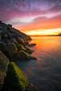 Ocean On Fire - Coquille River Lighthouse, Oregon Coast, Oregon