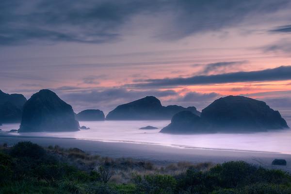 Cape Sebastian At Dusk