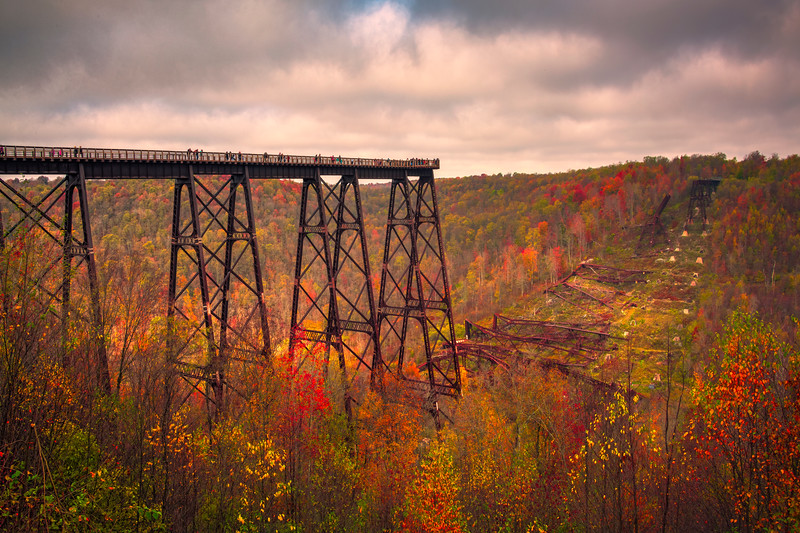 The Kinzua Bridge Amongst The Autumn Allegeny Mountains Kinzua Railroad Bridge, Pennsylvania