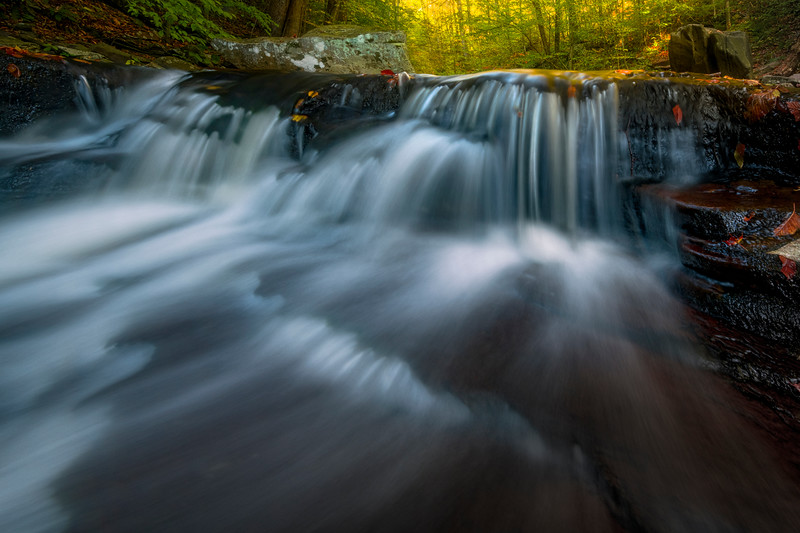 Dreamlike Textures Skimming Across These Falls-Ricketts Glen State Park, Benton,  Pennsylvania